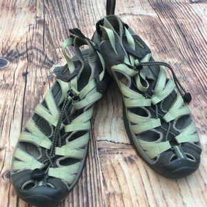 Keen Women's Waterproof Hiking Sandals Green US 10